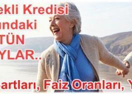 Ziraat Bankası Emekli Kredisi 2018 (Başvuru, Faiz Oranları ve Şartları)