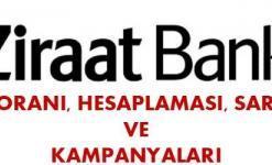 Ziraat Bankası Taşıt Kredisi (0 km, 2 El, Faiz Oranları, Hesaplaması 2018)