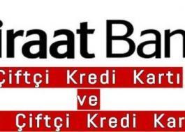 Ziraat Bankası Çiftçi Kart (ve DİĞER BANKALARA AİT KREDİ KARTLARI)