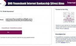 QNB Finansbank İnternet Bankacılığı Şifresi Alma