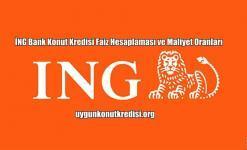 İNG Bank Konut Kredisi Faiz Hesaplaması ve Maliyet Oranları