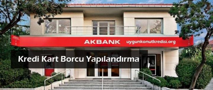 Akbank Kredi Kartı Borç Yapılandırma ve Taksitlendirme