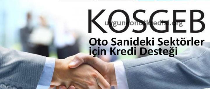 KOSGEB Oto Sanayideki Sektörler için Kredi Desteği 2019