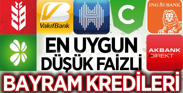 2019 Bayram kredisi veren bankalar [Faiz oranları – Ödeme Planları]