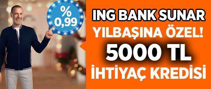 ING Bank 5000 TL İhtiyaç Kredisi Başvurusu ve Hesaplama Tablosu