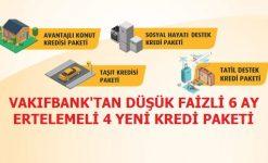 Vakıfbank Uygun Faizli Yeni Kredi Paketleri Faiz Oranları Hesaplama Tablosu (2020)