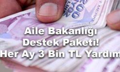 Aile Bakanlığı'ndan Her Ay 3.000 Lira Yardım (Şartlar ve Başvuru)