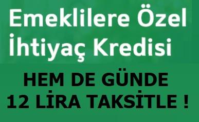 Şekerbank'tan Emeklilere Özel Günlük 12 Lira Taksitle Kredi Kampanyası