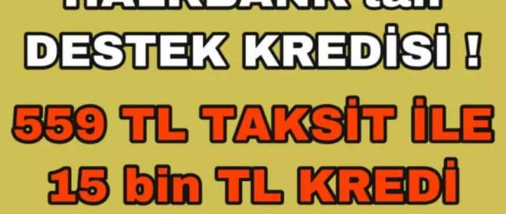 Halkbank'tan 6 Ay Ertelemeli 15.000 TL Kredi Kampanyası (Başvuru ve Şartlar)