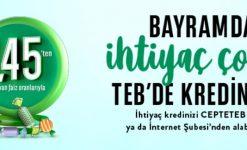 TEB'den Bayram Kredisi (Şartlar, Başvuru ve Hesaplama)