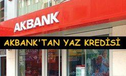 Akbank'tan Yaz Kredisi (Faiz Oranı, Başvuru ve Hesaplama)