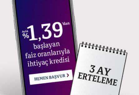 QNB Finansbank'tan Yeni İhtiyaç Kredisi Kampanyası