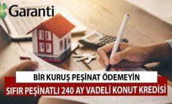 Garanti Bankası'ndan Peşinatsız Konut Kredisi Kampanyası