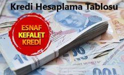 %0,79 Faizle Esnaf Kefalet Kredi Şartları ve Hesaplama