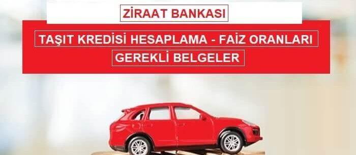 Ziraat Bankası Taşıt Kredisi Hesaplama